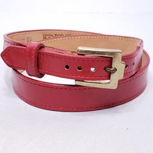 Justin Boots Red Leather Belt